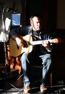 On stage at the Edinburgh Guitar Festival
